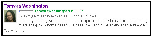 Tamyka Washington Google AuthorSure