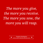 Day 25 – Give to Receive