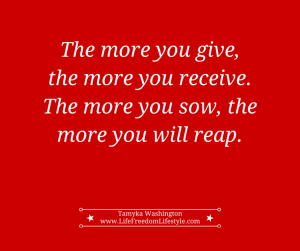 Give to receive