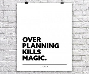 Over Planning
